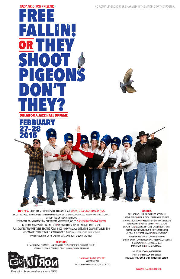 Tulsa Gridiron 2015 Shot Poster - They Shoot Pidgeons Don't They?